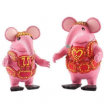 Clangers 2 Pack Of Figures -TINY & MOTHER - NEW